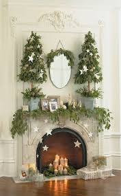 Mantel Topiaries - get inspired christmas decor ideas mantle mantels and holidays