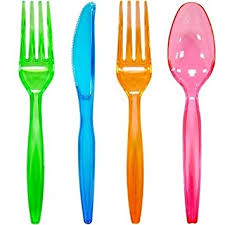 plastic cutlery chefland 96 plastic cutlery combo knives forks