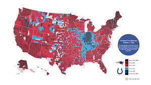 Show The Map Of The United States by Maps Which Nfl Teams Every County In The Us Is Rooting For In