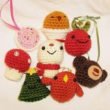attractive crocheted tree ornaments