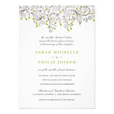 fancy invitations floral fancy swirls formal wedding invitations zazzle