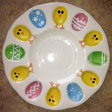 ceramic deviled egg platter deviled eggs anyone egg plate paint your own pottery