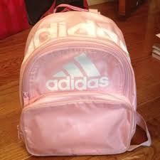 adidas classic trefoil backpack light pink new adidas originals backpack classic trefoil logo light pink white