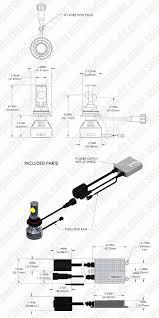 Led Head Light Bulbs by Led Headlight Kit 9007 Led Headlight Bulbs Conversion Kit Led