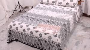 block print bedsheet designs available in various colours