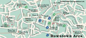 map of mexico cities guanajuato city map mexico on line