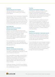 blackline executive summary with product overviews
