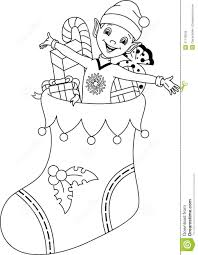 christmas socks coloring pages eson me