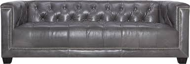Gray Nailhead Sofa Contemporary Leather Tufted Nailhead Sofa Safavieh Com