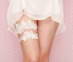 Lingerie For Bride Wedding Garter Set White Garter Ivory Venise Lace Ivory White