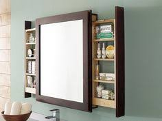 Bathroom Vanity Mirrors With Medicine Cabinet A Clever Bath Mirror With Side Pull Out Shelves That Let Users