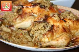 cuisine marocaine poulet farci recette poulet farci à la vermicelle recettes maroc
