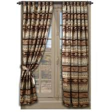 cowhide western drapes cabin place