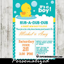baby shower invitations for boy rubber duck baby shower invitation personalized cupcakemakeover