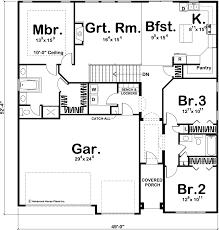 1 story craftsman house plan beechwood
