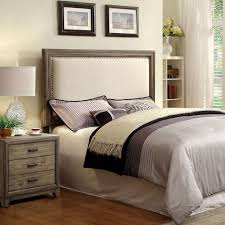 wood and linen headboard throughout best 25 grey upholstered