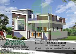 Home Exterior Design In Pakistan D 17 Islamabad Pakistan House Map Plan Drawings Elevation View D 17