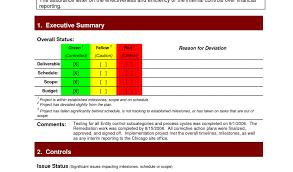 program status report template project status report template