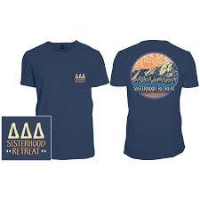 All Comfort Tri Delta Comfort Colors Sisterhood Retreat Custom Mountain Design