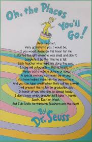 oh the places you ll go graduation gift had a parent add this poem to the front of their oh the