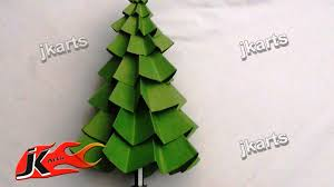 make christmas tree paper craft kids arts youtube dma homes 44305