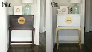 painting furniture without sanding diy painted white and gold furniture amy howard at home one step