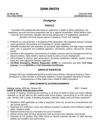 Resume Objective Statements Sample by Firefighter Resume Objective Statement Firefighter Profile John