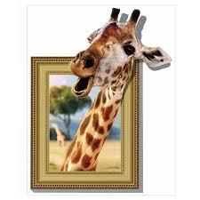 home decor giraffe creative home decor cartoon 3d stereo wall stickers giraffe photo