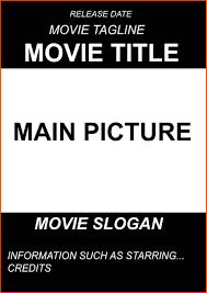 movie poster template movie poster sample 2 jpg sponsorship letter