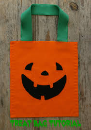 treat bag kids can sew for halloween coloured buttons