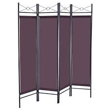 canvas room divider costway brown 4 panel room divider privacy screen home office