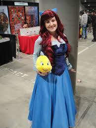ariel and flounder halloween costumes file comikaze expo 2011 ariel and flounder from the little