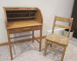 Small Desk Brown Small Desk Etsy