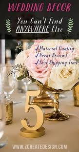 Handmade Centerpieces For Weddings by How To Make Diy Table Numbers Wedding Ideas From Z Create Design