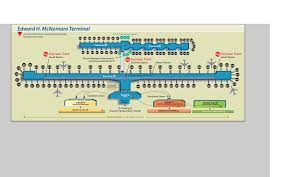 Miami Airport Terminal Map by Detroit Airport Terminal Map Map Of Detroit Airport Michigan Usa