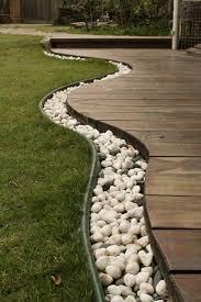 Garden Edging Idea Impressive Garden Edging Ideas With Pebbles And Rocks