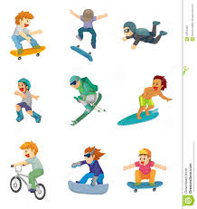 cartoon extreme sport icon vector illustration cartoondealer com