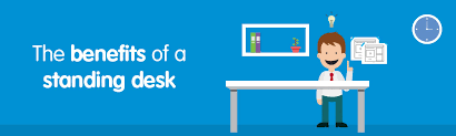 Benefits Of Standing Desk by Benefits Of A Standing Desk Euroffice Office Supplies