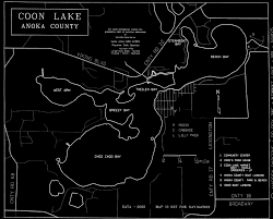 Lake Geneva Wisconsin Map by Coon Lake Map Bruce Mceachran