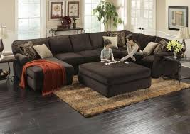 deep sectional feather cushion ottoman great modern sectionals
