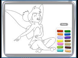 free tinkerbell coloring pages kids tinkerbell coloring