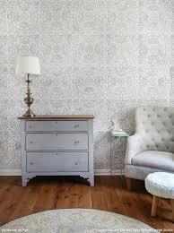 diy shabby chic nursery idea with lace wall stencils royal
