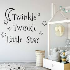 popular nursery decor baby buy cheap nursery decor baby lots from twinkle twinkle little star decals stars nursery decor baby room vinyl wall stickers bedroom star kids