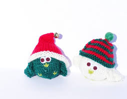 tree ornaments knitted decorations aftcra