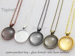 necklace pendant setting images 1 inch round pendant trays 25mm round cabochon setting blank jpg