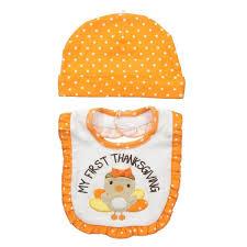 lovespun baby hat and baby bib set my thanksgiving