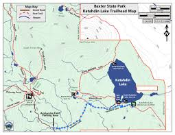 China Camp Trail Map 1 minute hike katahdin lake trail in baxter state park act out