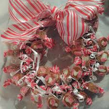 candy wreath caramel creams candy wreath for the holidays caramel creams