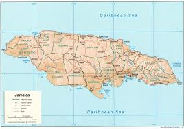 Picture Of Map Map Of Jamaica Relief Map Worldofmaps Net Online Maps And