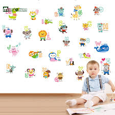 popular alphabet wall stickers buy cheap alphabet wall stickers kindergarten children cartoon stickers children s room wall stickers early learning english alphabet stickers china